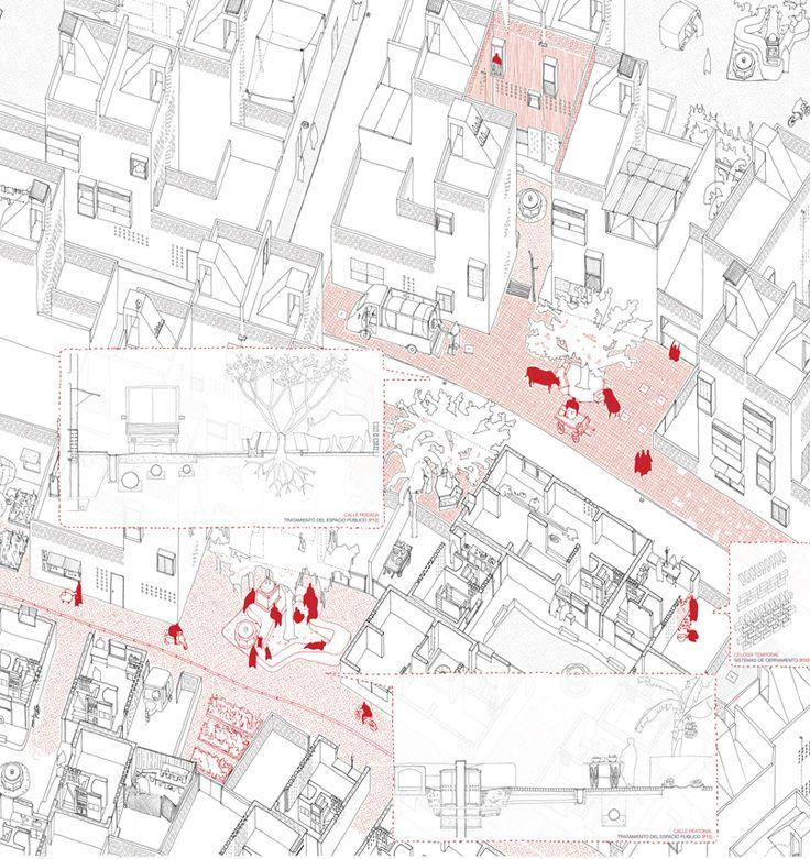 Alberto Gonzalez + Capitel Martorell // Collaborative Urban Development 如何讲述一个有许多分散想法又十分细致的方案