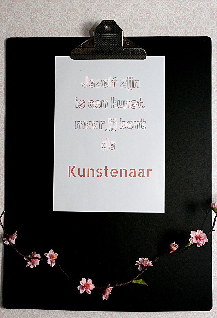 kaart uit het zakje vol zelfvertrouwen en ook als A4 poster