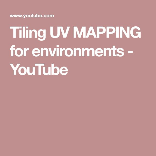 Tiling UV MAPPING for environments - YouTube