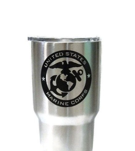 Excited to share the latest addition to my #etsy shop: Military decal, Marines Decal for Yeti, Yeti decal, Car decal,glass sticker, US MARINE CORPS, Tumbler sticker, Military sticker, Marines http://etsy.me/2jK03mZ #geekery #computer #accessories #unitedstatemarine #giftformen #m