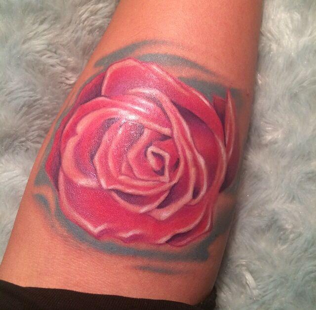 My pink rose tattoo