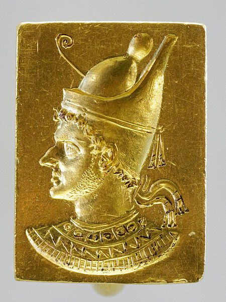 Ptolemy VI Philometor c. 186–145 BCE, a Ptolemaic dynasty King, is shown wearing…