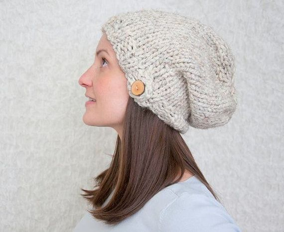 Slouch Hat KNITTING PATTERN, Unisex, Chunky Knit, Winter, Warm, Insta?