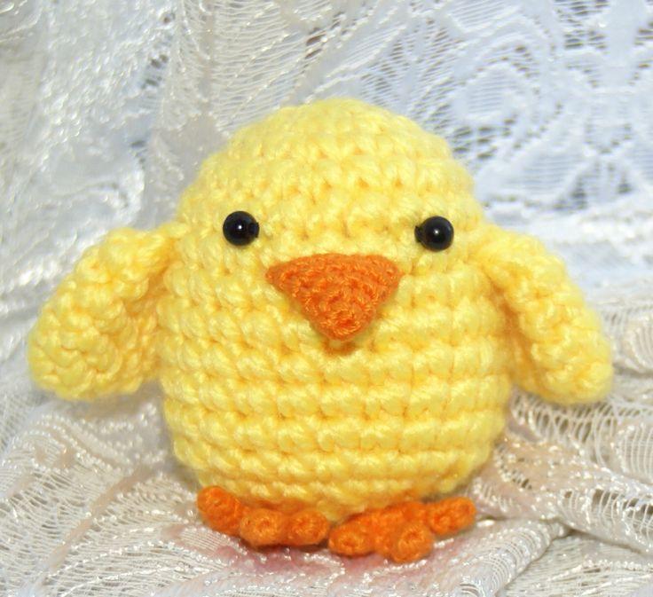Magnífico Patrón De Pato Crochet Ornamento - Manta de Tejer Patrón ...