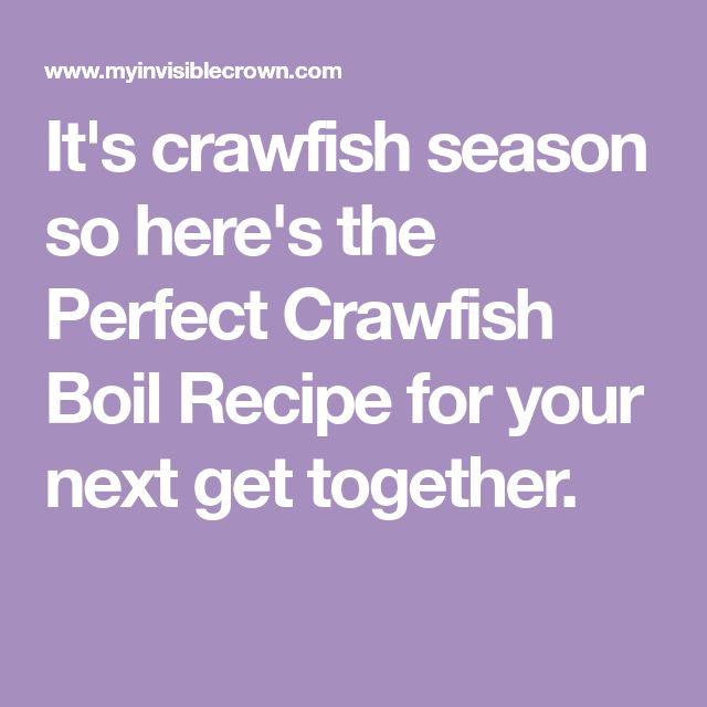 It's crawfish season so here's the Perfect Crawfish Boil Recipe for your next get together.