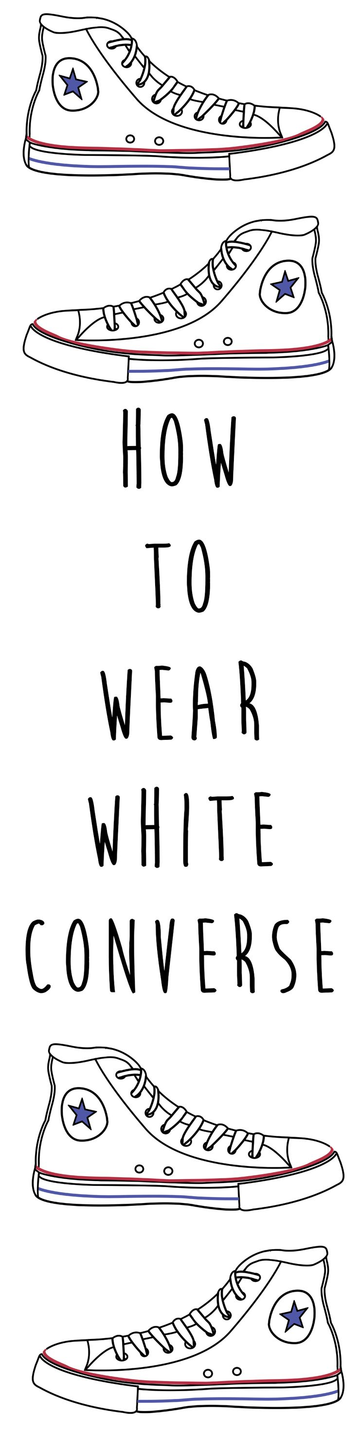 How to wear white converse | white converse outfit ideas