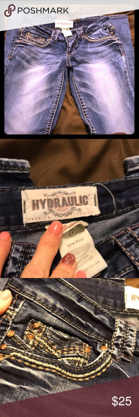 Hydraulic Jeans Slim Boot Size 8 Hydraulic Jeans Slim Boot Size 8. Gramercy. Only worn 2-3 times  like new Hydraulic Jeans Boot Cut