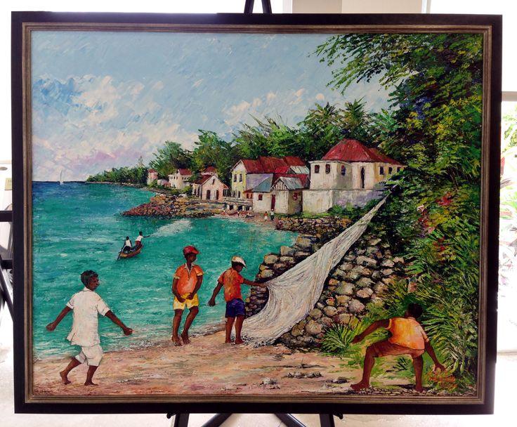 Original Fielding Babb Oil On Canvas Framed In Nurre