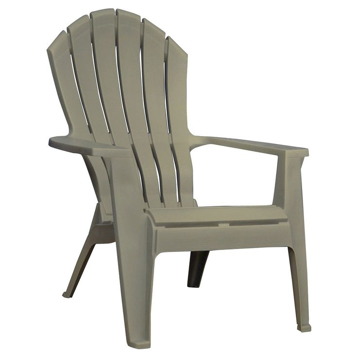 Exceptional RealComfort Resin Outdoor Adirondack Chair   Gray   Adams