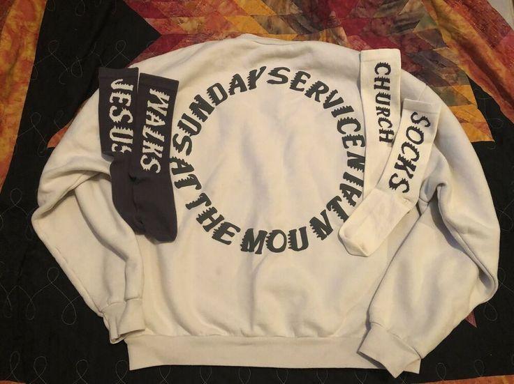 Yeezy Sunday Service Merch Jesus Walks Church Socks Holy Spirit Sweatshirt Yeezy Shirt Ideas Of Yeezy Shirt Y Yeezy Shirt Concert Shirts Work Shirts