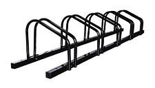 1 - 5 Bike Floor Parking Rack Storage Stand Bicycle Black