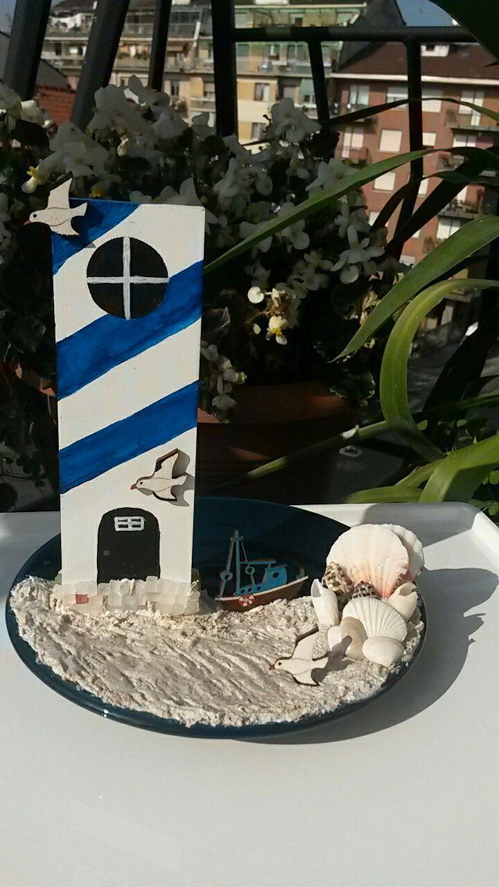 Letter I lighthouse Decorare la lettera I