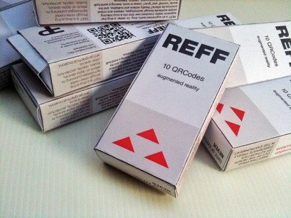 REFF AR Drugs is an augmented reality drug enabling humans to create new layers of reality.     Each box contains:    - a handmade packaging  - an information sheet describing the effects of the drug and the ways to use it  - 33 different designer AR drugs, created by artists, architects, hackers, activists worldwide  - the links to the open source software tools that can be used to create your own drug