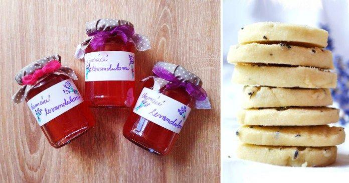 recept na domácí levandulový sirup a levandulové sušenky
