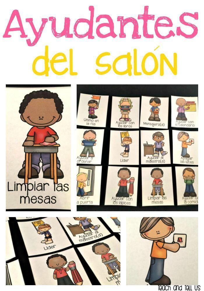 Classroom helpers - Ayudantes del salón for bilingual and dual language classrooms