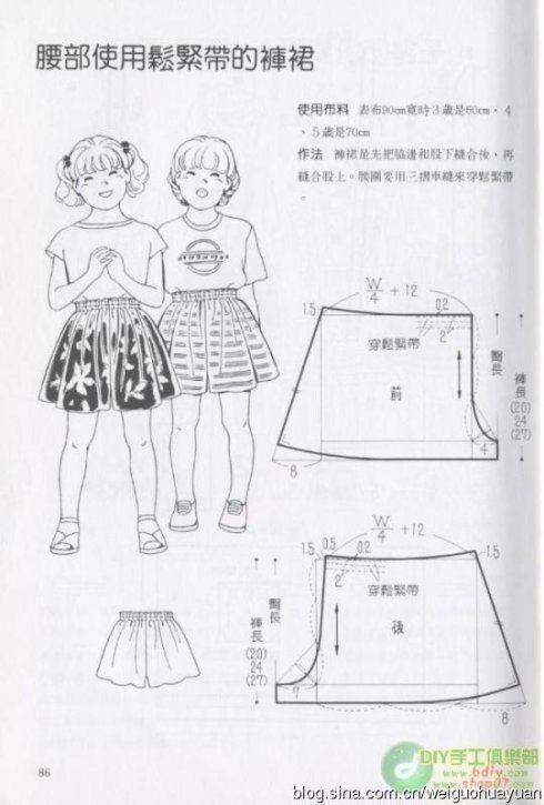 [转载]儿童服装图样制作分享,男孩女孩都有_Jackie布布的博客