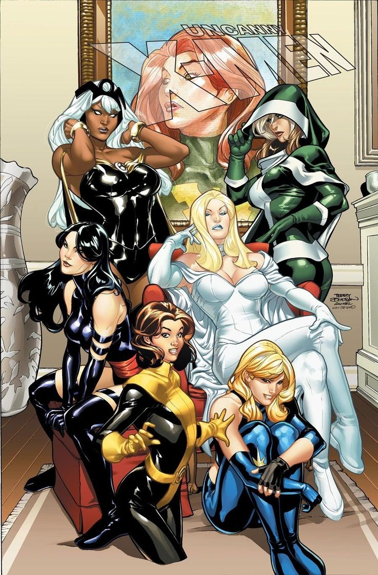 Phoenix, Storm, Rogue, Psyloch, White Queen, Shadowcat, Magik,