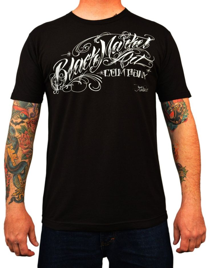 Men's Danvir Logo Tee by Tomas Archuleta Black Market Tattoo T Shirt – moodswingsonthenet