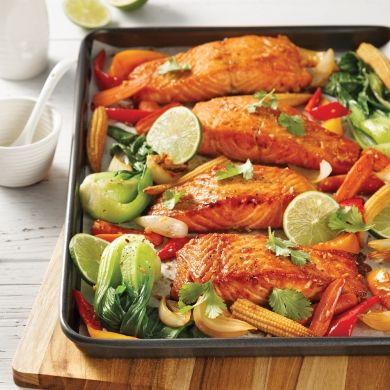 Saumon à la thaï sur la plaque - Recettes - Cuisine et nutrition - Pratico Pratique