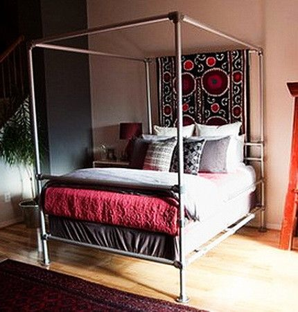 this canopy frame is made with pvc pipe and is the cheapest way to make a - Cheapest Bed Frame