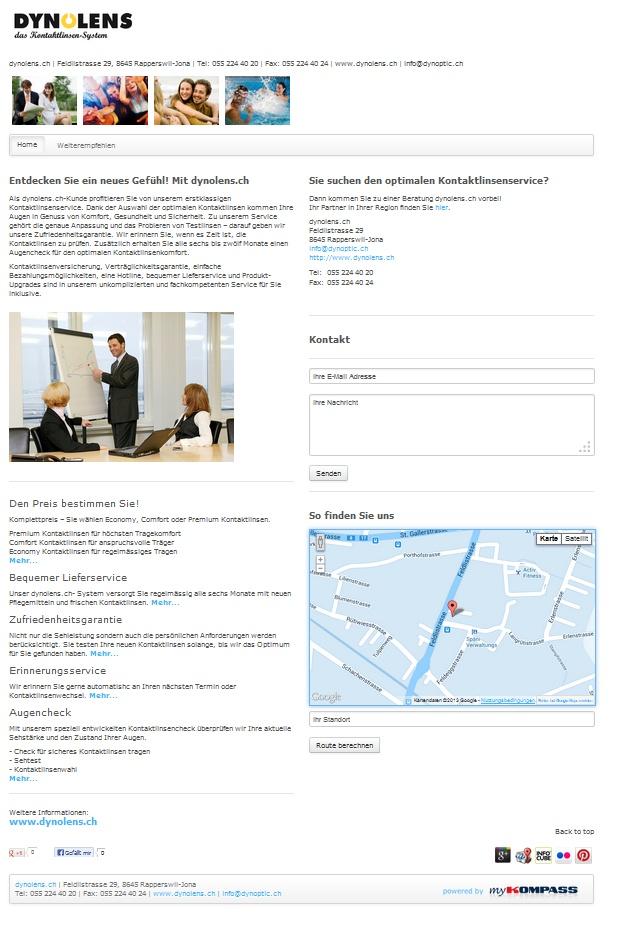 dynolens.ch, Kontaktlinsen, Brillengeschäft, Optikergeschäft, Rapperswil-Jona, Online, Augencheck, Sehtest