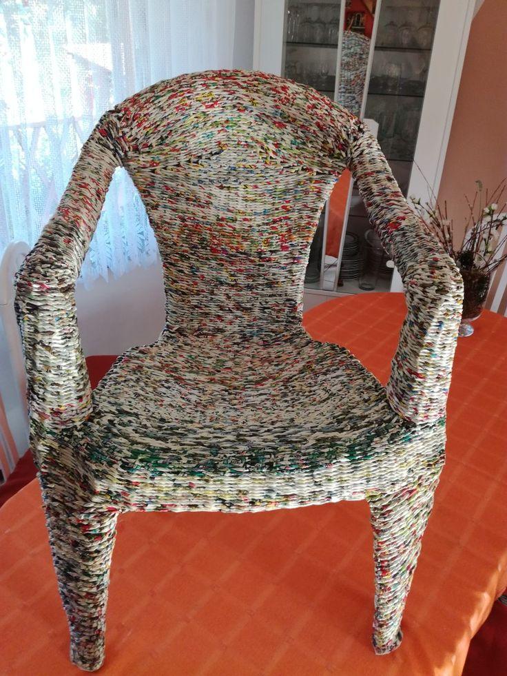 Fotel z wikliny papierowej