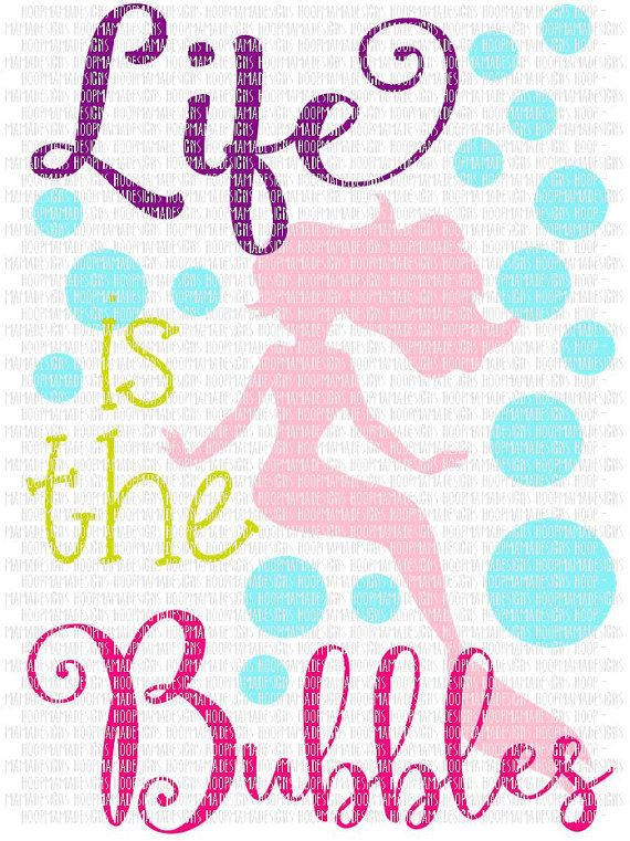 life is the bubbles mermaid svg dxf eps and png files for cutting machines cameo or cricut
