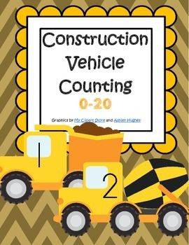 construction vehicles counting 0 20 free community helpers pinterest construction and count. Black Bedroom Furniture Sets. Home Design Ideas