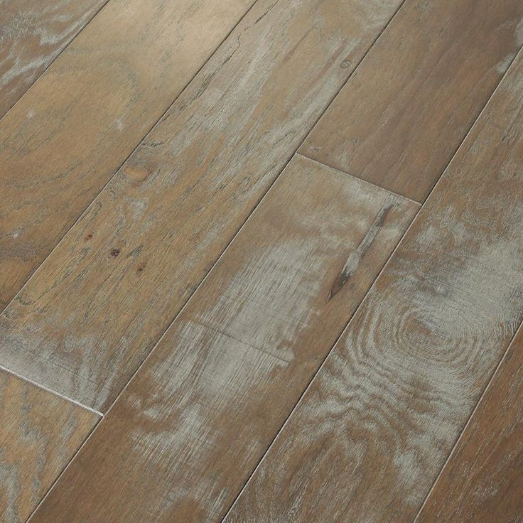 Majestic Hickory Revere Pewter 3/8 in. T x 5 in. W x Random Length Engineered Click Hardwood Flooring (31.29sq.ft./case), Revere Pewter Special