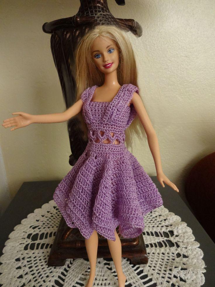 1000 images about vestidos barbies on pinterest crochet - Como hacer cosas de ganchillo ...