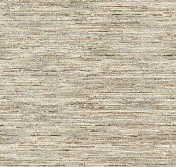 Rustic Faux Grasscloth Texture Wallpaper Modern Metallic Sea Etsy Grasscloth Wallpaper Diy Decor Projects Affordable Decor