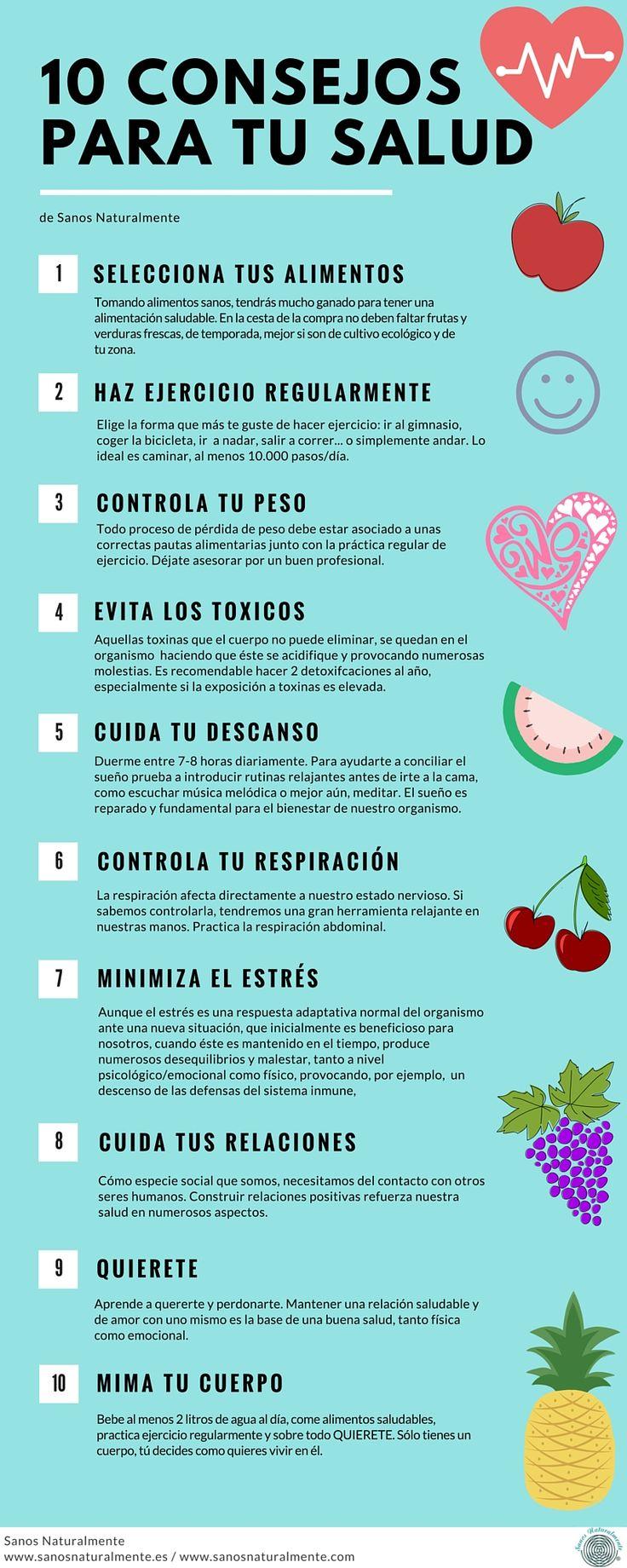 10 consejos para cuidar y disfrutar de tu salud