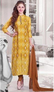 Yellow Color Silk Achkan Designer Readymade Salwar Kameez | FH513078115 #salwar, #kameez, #readymade, #anarkali, #patiala, #pakistani, #suits, #online, #stitched, #indian, #dress, #material, #shopping, #fashion, #boutique, #mode, @heenastyle , #designer , #pakistani , #evening , #wedding , #casual , #palazzo , #patiyala , #punjabi , #churidar , #narrow