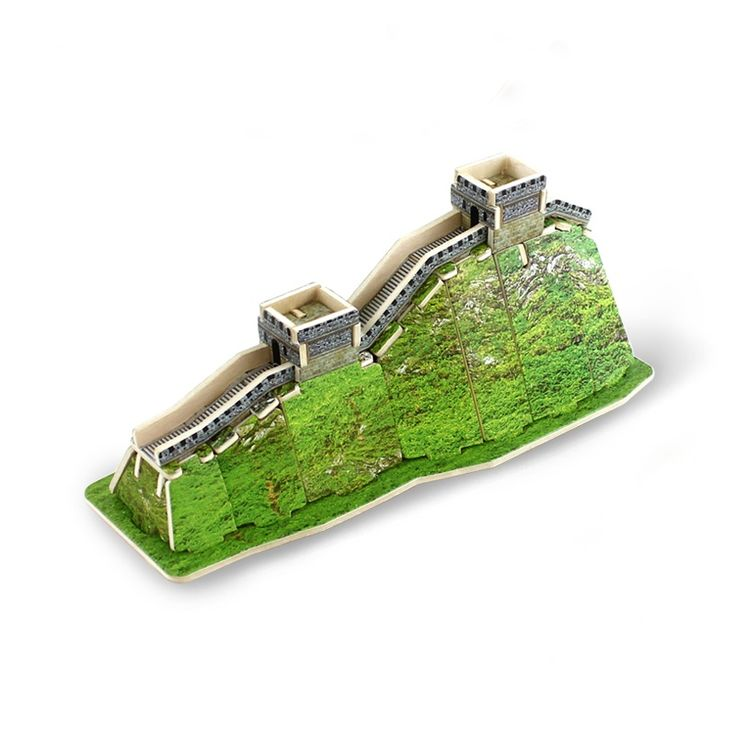 Best 3D Wooden Great Wall Building Puzzle Toys for Kids for sale at Oitems.com