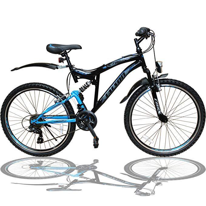 Talson 26 Zoll Mountainbike Fahrrad Mit Vollfederung Beleuchtung