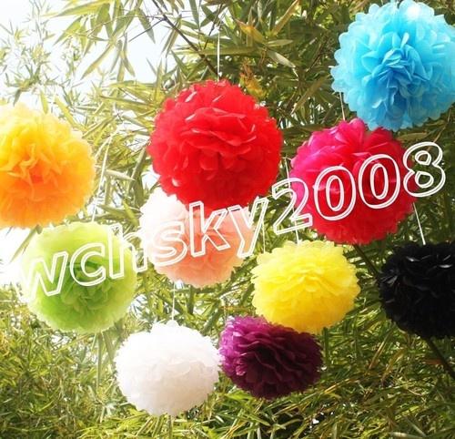 Details About 12pcs New Tissue Paper Pom Poms Flower Wedding Birthday Party Festive Decoration
