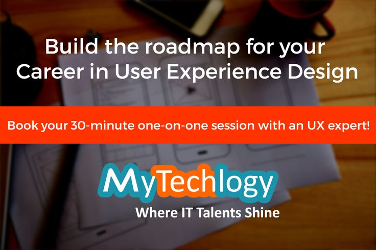 Build the roadmap for your #Career in #UserExperience #Design! Book your 30-minute one-on-one session with an award-winning designer with 15 years of hands-on experience in the space of User Centric Analysis, Conceptual Design and Design Strategy for Software and other Products. To book your appointment visit: https://www.mytechlogy.com/IT-career-development-services/career-coaches/SenthilKumar-Babu/