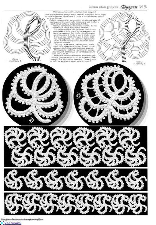 irish crochet motifs - Häkeln Blätter Motive / crochet Leafs Motifs