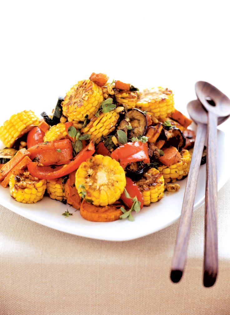 Salad Recipe - Roast Vegetable Salad (V)   This warm and crunchy roast vegetable salad is easy to make and sure to impress! #recipe #healthyeating