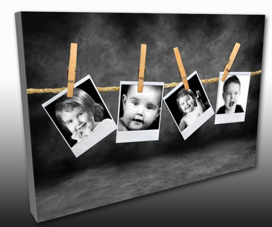 Kid Photos, on a Canvas Gallery Wrap by TorontoOnCanvas.com