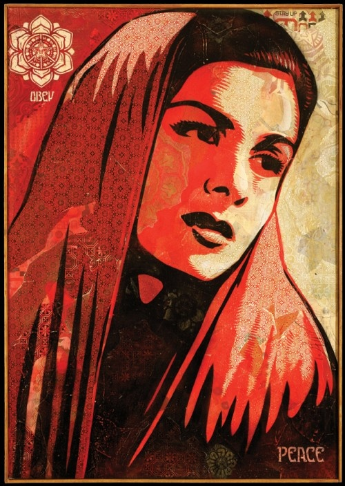 Peace Mujer: Arabic Art, Artful Graffiti, Peace Mujer, Street Art, Mujer Canvas, Art Street, Canvas Shepardfairey, Art Art, Shepard Fairey