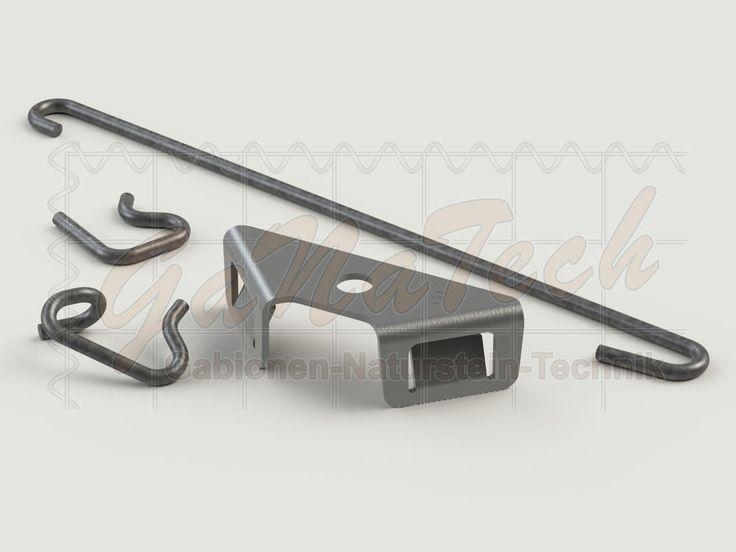 Winkelclip Drahtclip Gabione  Spar-Set   Eckverbinder Steinkorb aus Doppelstabmatten Zaunverbinder. Das geniale an dem Set ist, dass man nur 8 Winkelclips benötigt, die restlichen ersetzt man mit den günstigen Drahtclips. So kann man ganz individuell und günstig Gabionen bauen!