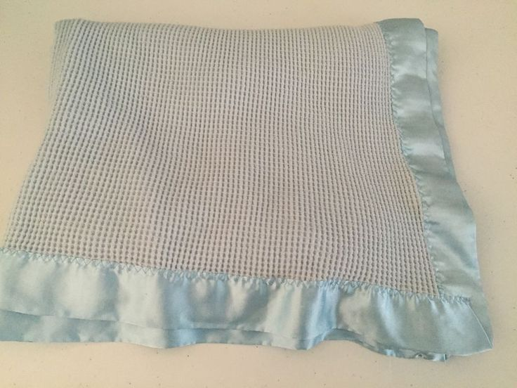 Bright Future Baby Blanket Blue Acrylic Waffle Thermal