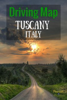 Driving Map of Tuscany Italy - The Road Trip You Should Take! - Peanuts or Pretzels Travel #Tuscany #Italy #RoadTrip