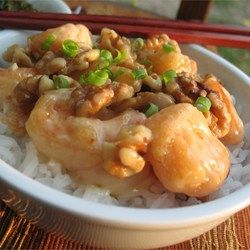 "Honey Walnut Shrimp | ""Crispy battered shrimp tossed in creamy sauce topped with sugar coated walnuts"""