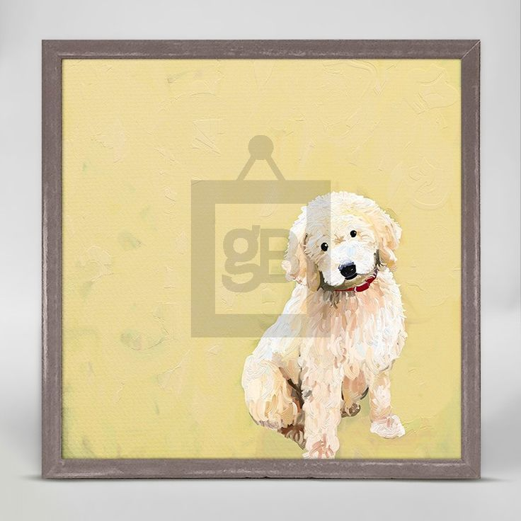 """Best Friend - Golden Doodle"" Mini Framed Canvas from GreenBox Art + Culture. Size - 6''x6''. Price - $29.98. Rustic frame color is predetermined. Browse our entire collection of Mini Framed Canvases for the home!"