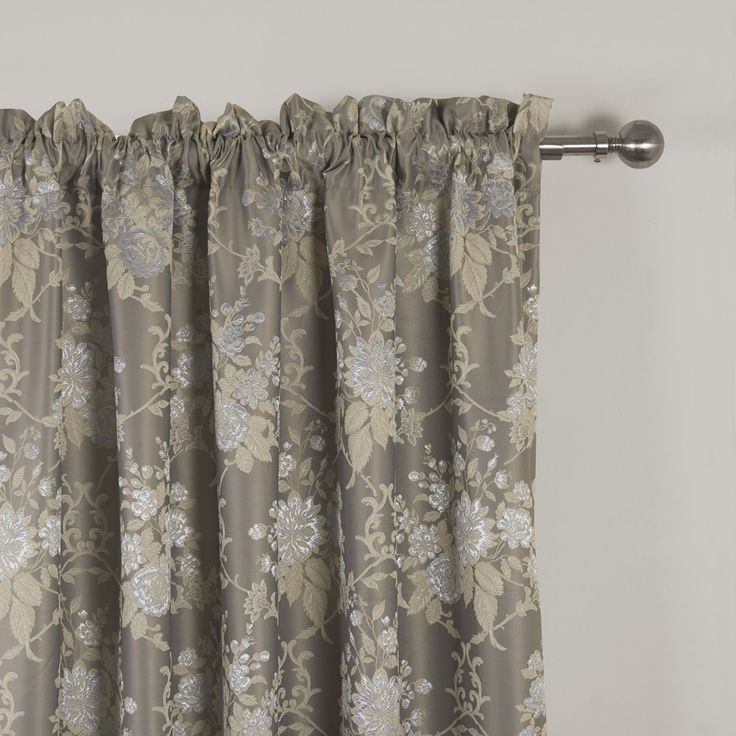 Country Jacqaurd Blackout Curtain  #floral #curtains #homedecor #interiordesign