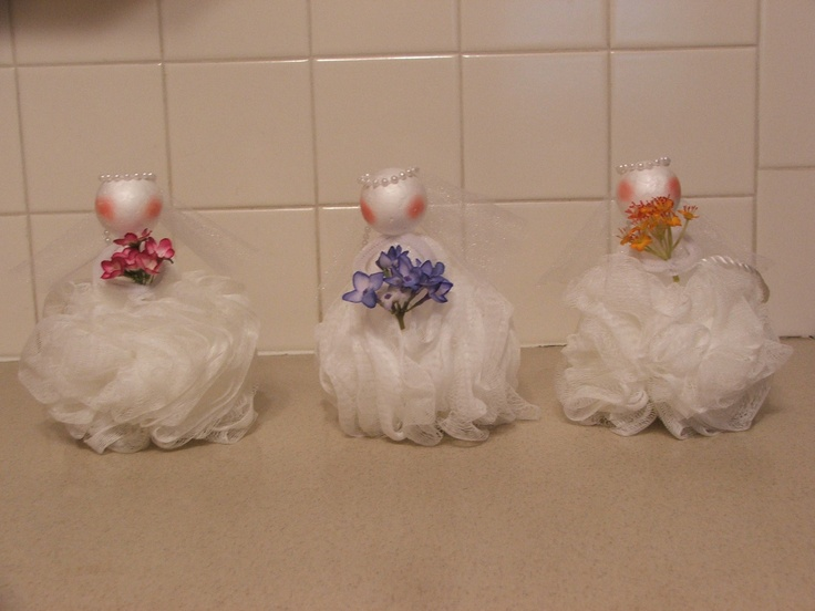Wedding Shower Loofah Party Favor Projects Pinterest