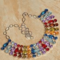Rainbow Gemstone Necklace**free shipping/no fees**