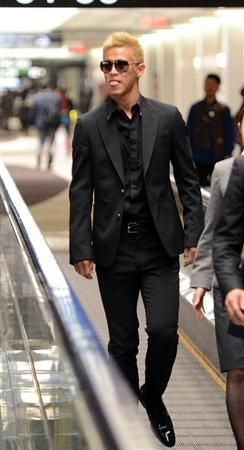 Keisuke Honda in a suit